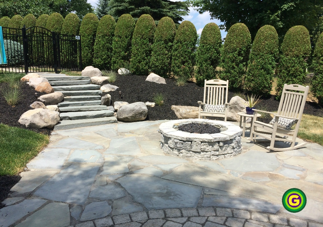 All · hardscape · irregular flagstone - Fire Pits – Green Scapes